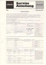 GRUNDIG - Music-Boy 1100 - Service Anleitung Abgleich Schaltbilder - B10182