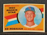 ED HOBAUGH #131 Sport Mag 1960 Chicago White Sox Original Card NRMNT-MINT