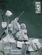 """VINTAGE KNITTING PATTERN  COPY - TO KNIT CLOTHES FOR 10 """" DOLLS- 1940's -3ply"""