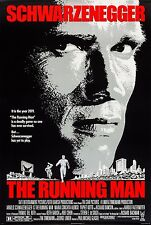 THE RUNNING MAN (1987) ORIGINAL MOVIE POSTER  -  ROLLED