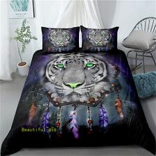 Double/QueenSingle//King Bed Doona Quilt Duvet Cover Set Dreamcatcher Tiger