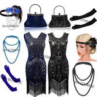 1920s Flapper Dress Charleston Gatsby Sequin Tassel Party Roaring 20s Costume