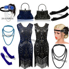 1920s Flapper Dress Charleston Gatsby Sequin Tassel Party Roaring 20s Costume