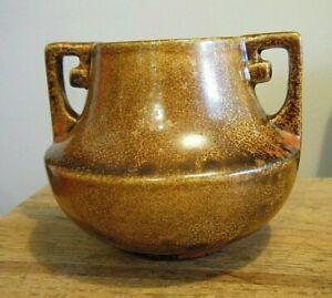 "Rare Vintage 1940s 3"" Miniature Stangl  Pottery Vase Mottled Glaze"