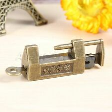 1 x Padlock Drawer Jewelry Box Cabinet Drawer Vintage Chinese Old Lock Hardware