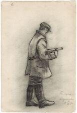 1930's Three drawings WOOD-CUTTERS by Russian artist Vasily I.Sokolov