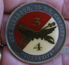"""Challenge Coin, 4th Squadron, 3rd Cavalry """"Veterans"""" Air Cav  (J5 coin box)"""