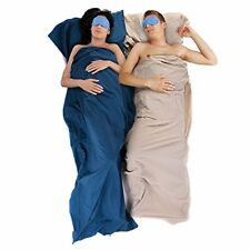 Naturehike Hüttenschlafsack Blau 210 x 75 cm 100% Baumwolle Cotton Sleeping-Bag