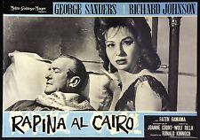 CINEMA-fotobusta RAPINA AL CAIRO sanders, johnson, WOLF RILLA