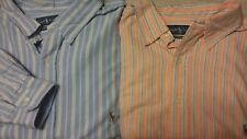 NWT Ralph Lauren ORANGE, BLUE Striped LS Button Shirt Big and Tall