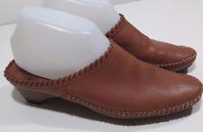 White Mountain Women's Darlene Clog Mule Shoes Brown Leather bohemian 8