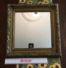 """Vintage Baroque Style Mirror in Golden Wood Frame - 16.5"""" x 16.5"""" (Mirror - 11 1"""