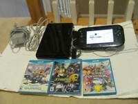 Nintendo Wii U Deluxe 32 GB Black System Lot w/ Super Smash Bros Console Bundle