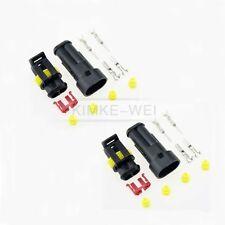 2x Superseal 2-polig Stecker Steckverbinder Wasserdicht für Auto KFZ Boot