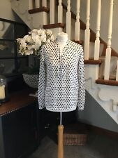 Marc Cain floaty blouse, great detail ,size N1 UK 8-10 excellent condition