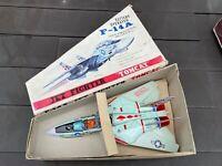 TN Toys Japan F-114A Jet Fighter Tomcat In Its Original Box - Near Mint Working