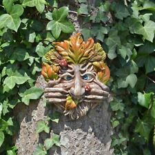 Cheeky Mouth Treant Face Wall Plaque Garden Greenman Wicca Pagan