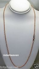 """20"""" ITALIAN 4.07g Solid 14K Pink Rose Gold Fancy Chain Necklace Sparkling Beauty"""