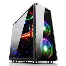 Gaming omputer PC Case Liquid Cooling Desktop Black Micro ATX ITX Mini Black