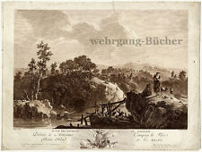 View around Gallion, II. Large signed copper engraving from ca. 1750.
