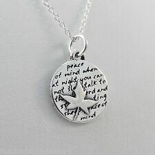 Maple Leaf Necklace - 950 Sterling Silver - Inspirational Peace of Mind *NEW*