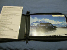 1996 AM GENERAL HUMMER H1 OWNERS MANUAL NEW SET W/ CASE