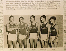 "1930 DRAKE University ~ the ""Quax"" YEARBOOK~ track (Drake Relays)"