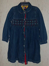 GIRLS TOMMY HILFIGER DISTRESSED BLUE JEAN DRESS   SIZE 4T