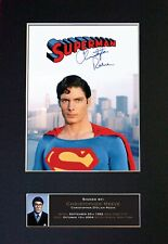 #373 CHRISTOPHER REEVE Reproduction Autograph Mounted Signed Photograph A4
