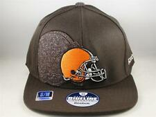 Cleveland Browns NFL Reebok Flex Hat Cap Size S/M Brown