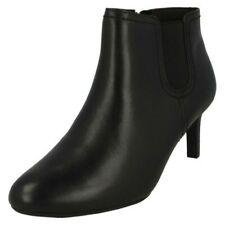 Ladies Clarks Smart Ankle Boots - Dancer Sky