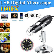 1600x Usb Digital Microscope Endoscope Zoom Camera With Stand For Android Window