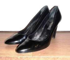 SERGIO ROSSI Black Patent Leather High Heel Court Shoes Pumps - UK 6 EU 39.5