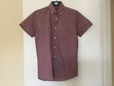 Boys Red/blue Check Short Sleeve Summer Shirt NWT Size Xs