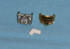 vintage Mego Micronauts TIME TRAVELER PARTS LOT connector tube + chest plates