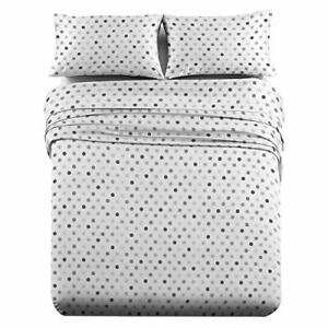 Heavyweight Flannel 100% Cotton Bed Sheet Set Ultra Soft Modern