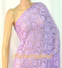 "160cm(63"") Width Lavender(Purple) 4-Way Stretch Spandex Lace Fabric DIY LC01E"