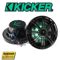 """Kicker 4141KM654LCW 6.5"""" Marine Coaxial Speakers 4 Ohm Led Multi Color Change"""