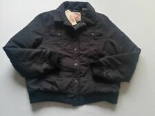 Levi ´S Winter Jacket Ladies Ladies Quilted Trucker Bomber Black L New