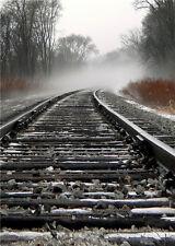 Photography Background Train Track Vinyl Photo Studio Props Baby Backdrops 5x7ft