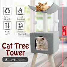 New listing 80Cm Cat Tree Pet Activity Tower Furniture Condo Perches Playhouse With Toy Ball