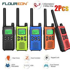 FLOUREON Walkie Talkies 16CH Handheld Interphone 2Way Radio 5KM Long Range Talky