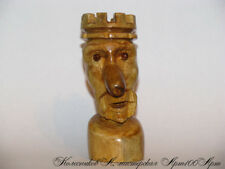 Wood Carving Figure Wooden figurine decoration hand made 95mm