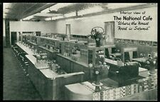 VERNON BRITISH COLUMBIA THE NATIONAL CAFE INTERIOR 1940s Advertising Postcard