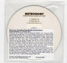 (HV500) Metronomy, Everything Goes My Way - 2011 DJ CD