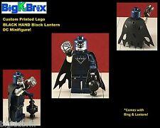 BLACK LANTERN BLACK HAND DC Custom Printed LEGO Minifigure w/Custom Ring & lante