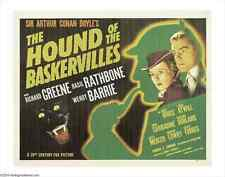 THE HOUND OF THE BASKERVILLES Movie POSTER 27x40 B Basil Rathbone Nigel Bruce
