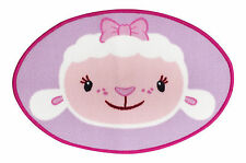 Doc Mcstuffins Lambie Rug Disney Oval Shaped 50cm x 75cm Girls Bedroom Childrens