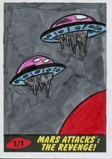 Mars Attacks The Revenge [2017] Sketch Card By Ibrahim Özkan