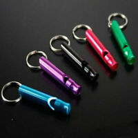 Portable Aluminum whistle Survival Whistle Color randomly